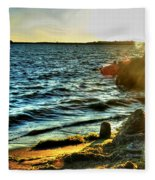 001 Natures Therapeutic Visual Music Series Fleece Blanket
