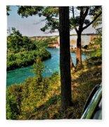 001 Niagara Gorge Trail Series  Fleece Blanket