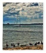 001 On A Summers Day  Erie Basin Marina Summer Series Fleece Blanket