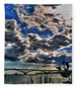 001 Peace Bridge Series II Beautiful Skies Fleece Blanket