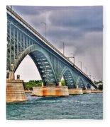 001 Stormy Skies Peace Bridge Series Fleece Blanket