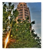 002 Electric Tower At Sunrise  Fleece Blanket