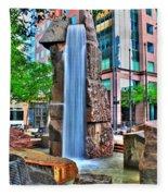 002 Fountain Plaza Fleece Blanket