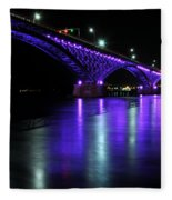 002 Peace Bridge Honoring Breast Cancer 2012 Series Fleece Blanket