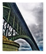 002 Stormy Skies Peace Bridge Series Fleece Blanket