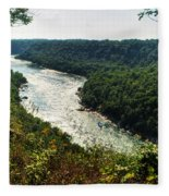 003 Niagara Gorge Trail Series  Fleece Blanket
