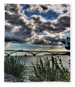 003 Peace Bridge Series II Beautiful Skies Fleece Blanket