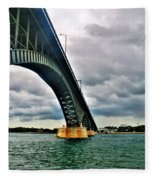 003 Stormy Skies Peace Bridge Series Fleece Blanket