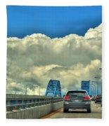 004 Grand Island Bridge Series  Fleece Blanket