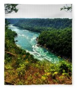 004 Niagara Gorge Trail Series  Fleece Blanket