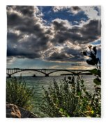 004 Peace Bridge Series II Beautiful Skies Fleece Blanket