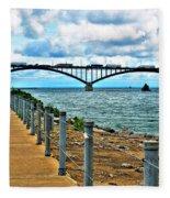 004 Stormy Skies Peace Bridge Series Fleece Blanket