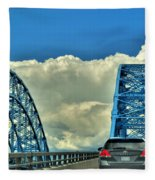 005 Grand Island Bridge Series  Fleece Blanket