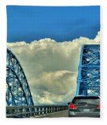 005 Grand Island Bridge Series  Fleece Blanket