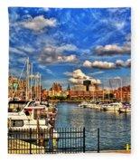 006 On A Summers Day  Erie Basin Marina Summer Series Fleece Blanket
