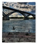 006 Peace Bridge Series II Beautiful Skies Fleece Blanket