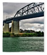006 Stormy Skies Peace Bridge Series Fleece Blanket
