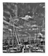007bw On A Summers Day  Erie Basin Marina Summer Series Fleece Blanket
