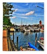 008 On A Summers Day  Erie Basin Marina Summer Series Fleece Blanket