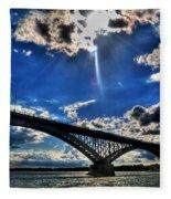 008 Peace Bridge Series II Beautiful Skies Fleece Blanket