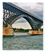 008 Stormy Skies Peace Bridge Series Fleece Blanket