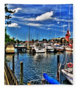 009 On A Summers Day  Erie Basin Marina Summer Series Fleece Blanket