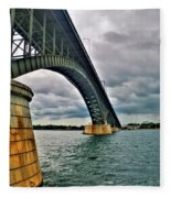 009 Stormy Skies Peace Bridge Series Fleece Blanket