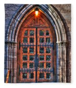 01 Church Doors Fleece Blanket