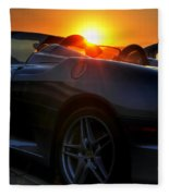 01 Ferrari Sunset Fleece Blanket