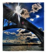 010  Peace Bridge Series II Beautiful Skies Fleece Blanket