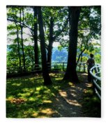 012b Niagara Gorge Trail Series  Fleece Blanket