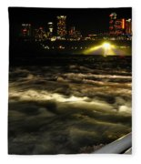 013 Niagara Falls Usa Rapids Series Fleece Blanket