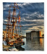 013 Uss Niagara 1813 Series Fleece Blanket