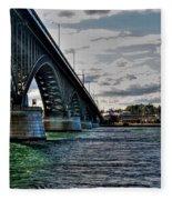 014 Peace Bridge Series II Beautiful Skies Fleece Blanket