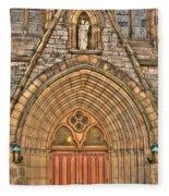 02 Church Doors Fleece Blanket