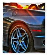 02 Ferrari Sunset Fleece Blanket