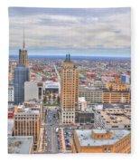 02 Series Of Buffalo Ny Via Birds Eye East Side Fleece Blanket