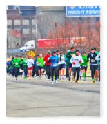 020 Shamrock Run Series Fleece Blanket