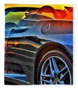 03 Ferrari Sunset Fleece Blanket