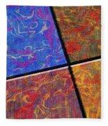 0580 Abstract Thought Fleece Blanket