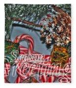06 Christmas Cards Fleece Blanket