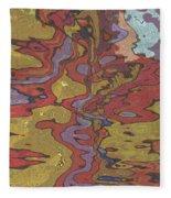 0637 Abstract Thought Fleece Blanket