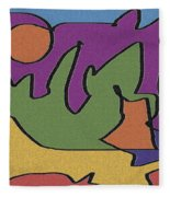 0638 Abstract Thought Fleece Blanket