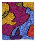 0665 Abstract Thought Fleece Blanket