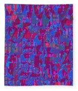 0671 Abstract Thought Fleece Blanket