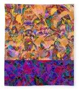 0672 Abstract Thought Fleece Blanket