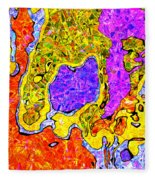 0673 Abstract Thought Fleece Blanket