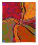 0683 Abstract Thought Fleece Blanket