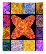 0690 Abstract Thought Fleece Blanket