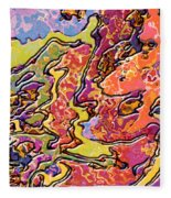 0693 Abstract Thought Fleece Blanket